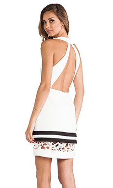 Cameo Vowels Dress in Ivory