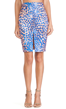 Cameo The Recovery Skirt in Cobalt Leopard