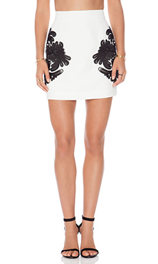 Cameo The Maker Skirt in Ivory & Black