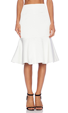 Cameo No Diggity Flare Skirt in Ivory