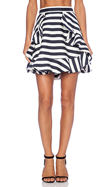 Cameo Oceans Flare Skirt in Bold Stripe