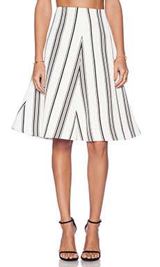 Cameo Rather Be Skirt in Stripe