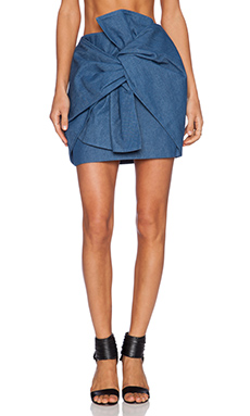Cameo No Advice Skirt in Denim