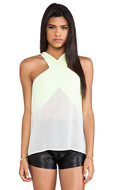 Cameo Paper Thin Top in Chartreuse