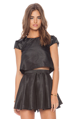 Cameo Shoot Out Top in Black