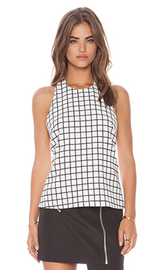 Cameo The Leagues Top in White Check