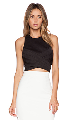 Cameo Trails Top in Black