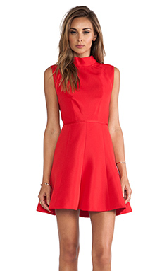 camilla and marc Vaporware Dress in Scarlet Red
