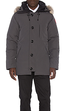 Canada Goose Chateau Parka with Coyote Fur Trim in Graphite
