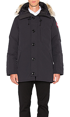 Canada Goose Chateau Parka with Coyote Fur Trim in Navy