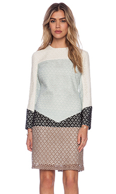 Candela Baldwin Dress in Cream Multi