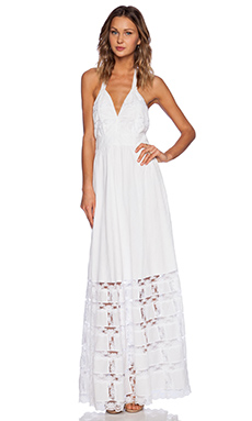 Candela Griffin Dress in White