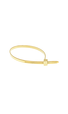 Cast of Vices Zip Tie Bracelet in Gold