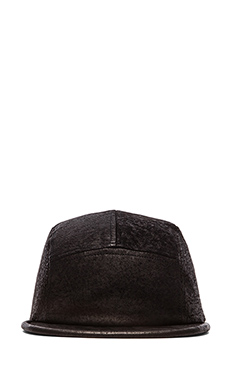 Cast of Vices Leather Hat in Stone Wash Pewter