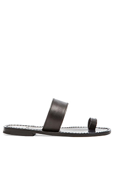 Capri Positano Single Toe Band Sandal in Black