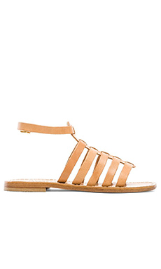 Capri Positano Gladiator Sandal in Light Tan