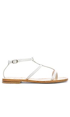 Capri Positano Triple Strap Sandal in White
