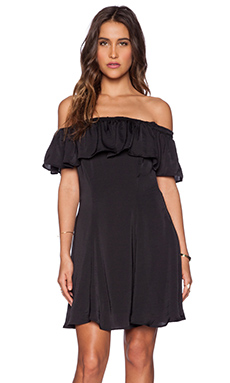 Capulet Spanish Shoulderless Mini Dress in Black