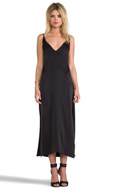 Capulet Deep V Front Dress in Washed Black