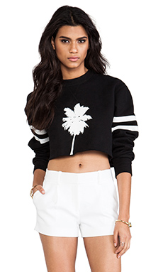 Capulet Cropped Sweatshirt in Black