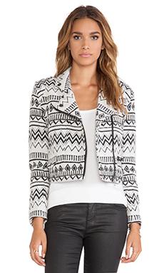 Capulet Moto Jacket in Black & White Santa Fe Jacquard