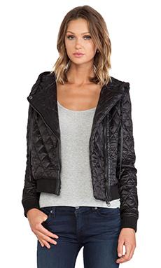 Capulet Quilted Hood Jacket in Black