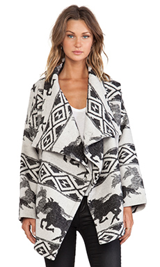 Capulet Wrap Jacket in Crazy Horse Jacquard