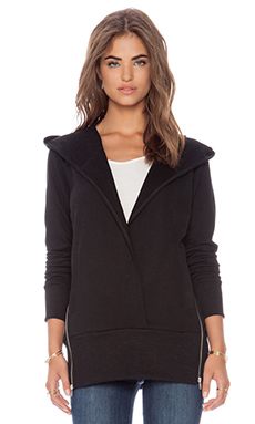 Capulet Side Zip Canyon Hoodie in Black