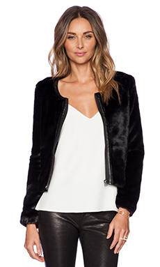 Capulet Vegan Fur Jacket in Black