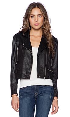 Capulet Vegan Suede Moto Jacket in Black