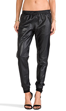 Capulet Leather Track Pant in Black