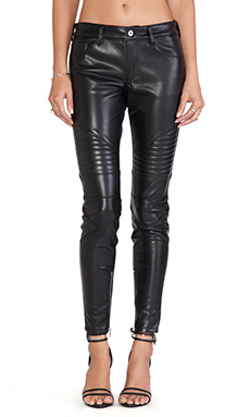 Capulet Vegan Leather Moto Pant in Black