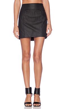 Capulet Leather Skirt in Black