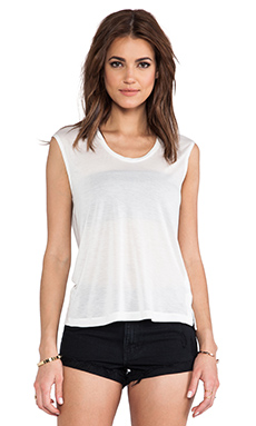 Capulet Capped Sleeve T-Shirt in White