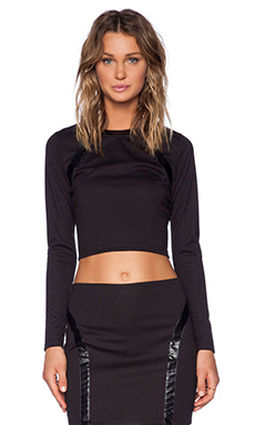 Capulet Long Sleeve Top in Black