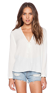 Capulet Peasant Top in Cream