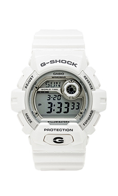 G-Shock X-Large 8900 in White/Silver