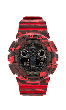G-Shock GA-100 Camouflage in Red Camo