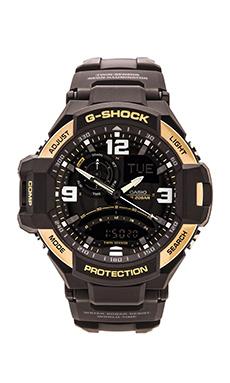 G-Shock GA-1000 in Black & Yellow Gold