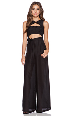 Casper & Pearl Camilla Jumpsuit in Black