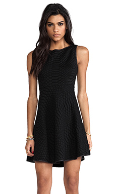 Catherine Malandrino Aimee Quilted Dress in Noir