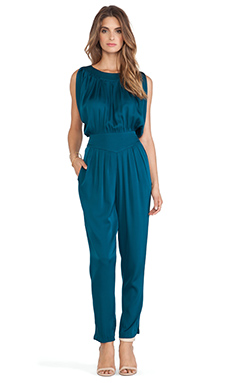 Catherine Malandrino Harley Cold Shoulder Jumpsuit in Patina