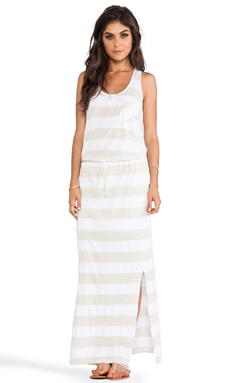 C&C California Racerback Maxi Dress in White