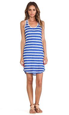 C&C California Striped Tank Dress in Dazzling Blue