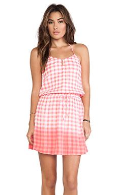 C&C California Dip Dye Gingham Dress in Gumball Pink