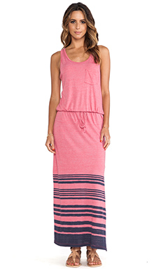 C&C California Striped Maxi Dress in Gumball Pink