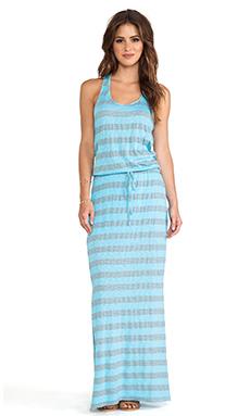 C&C California Striped Maxi Dress in Scuba Blue