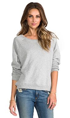 C&C California French Terry Raglan Sweatshirt in Heather Grey