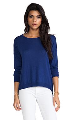 C&C California Back Placket Sweater in Cobalt