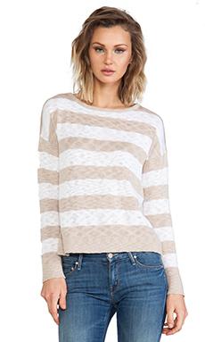 C&C California Striped Sweater in Sand